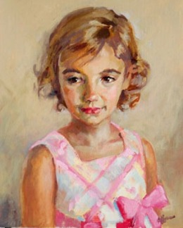 Portrait of a young girl by Mary Hoffman