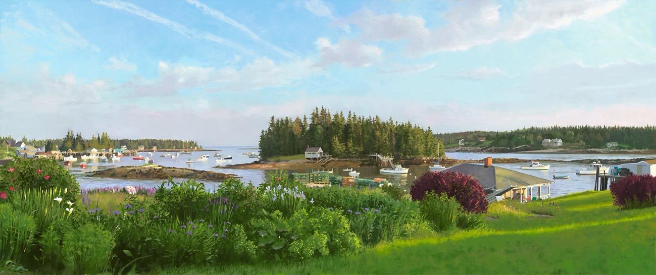 Port Clyde from Tanya' Garden
