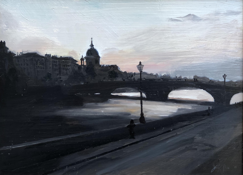 Santa Trinita at Twilight