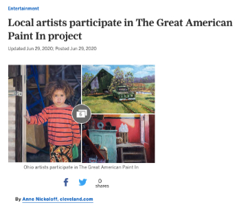 Local artists participate in The Great American Paint In project