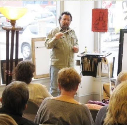 Dan Graziano teaching painting