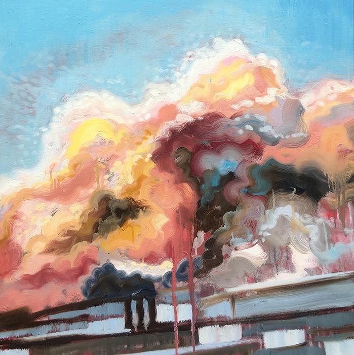 Rachel Evans painting at Brickworks Gallery #1
