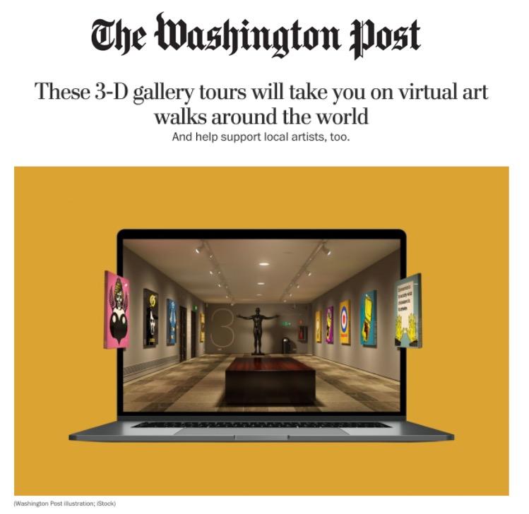 Washington Post Article Virtual Art Walks