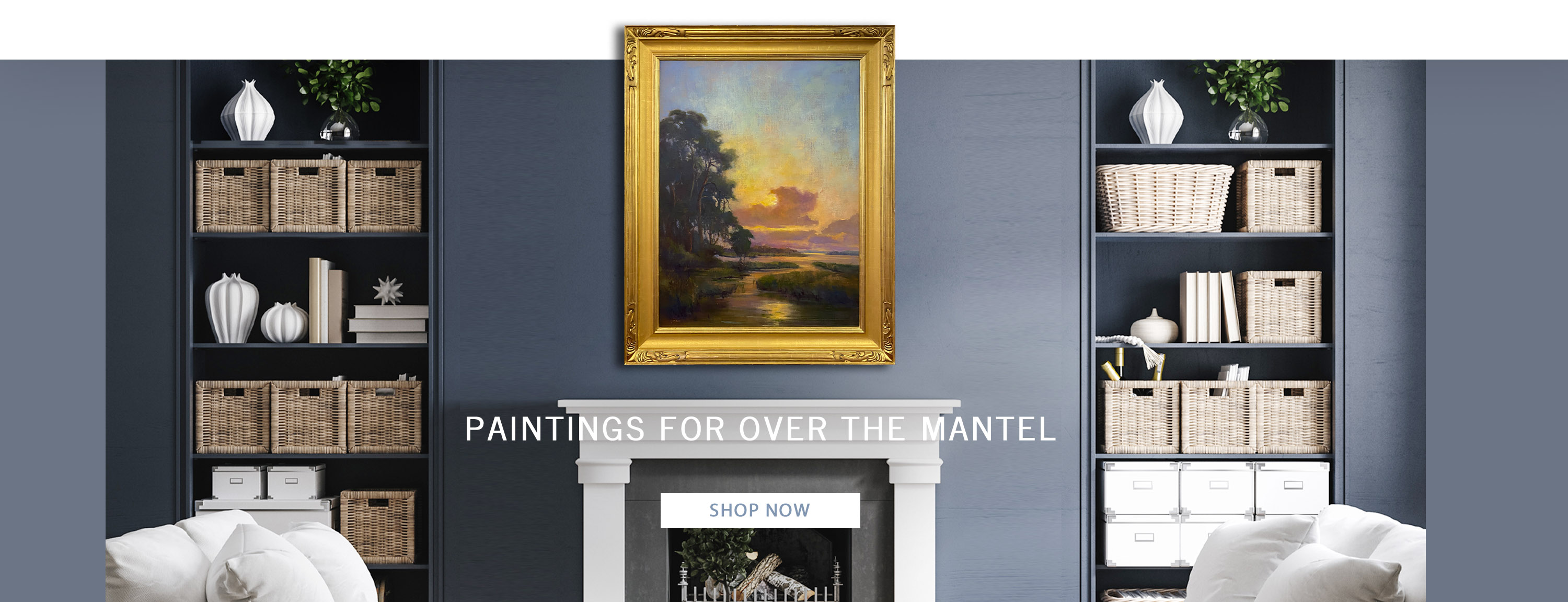 Paintings for over the mantel
