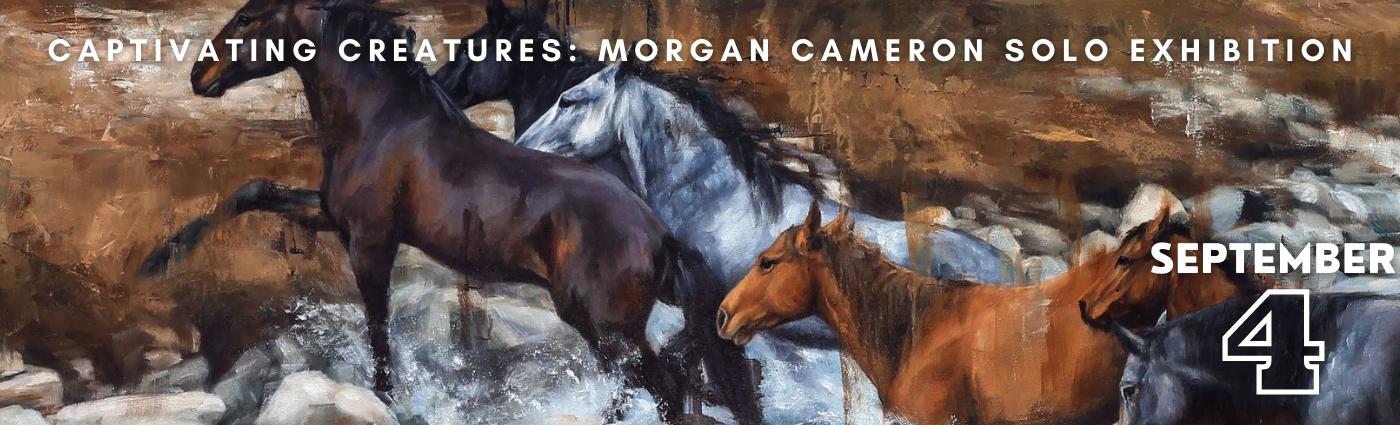 Captivating Creatures: Morgan Cameron Solo Exhibition Promo Banner