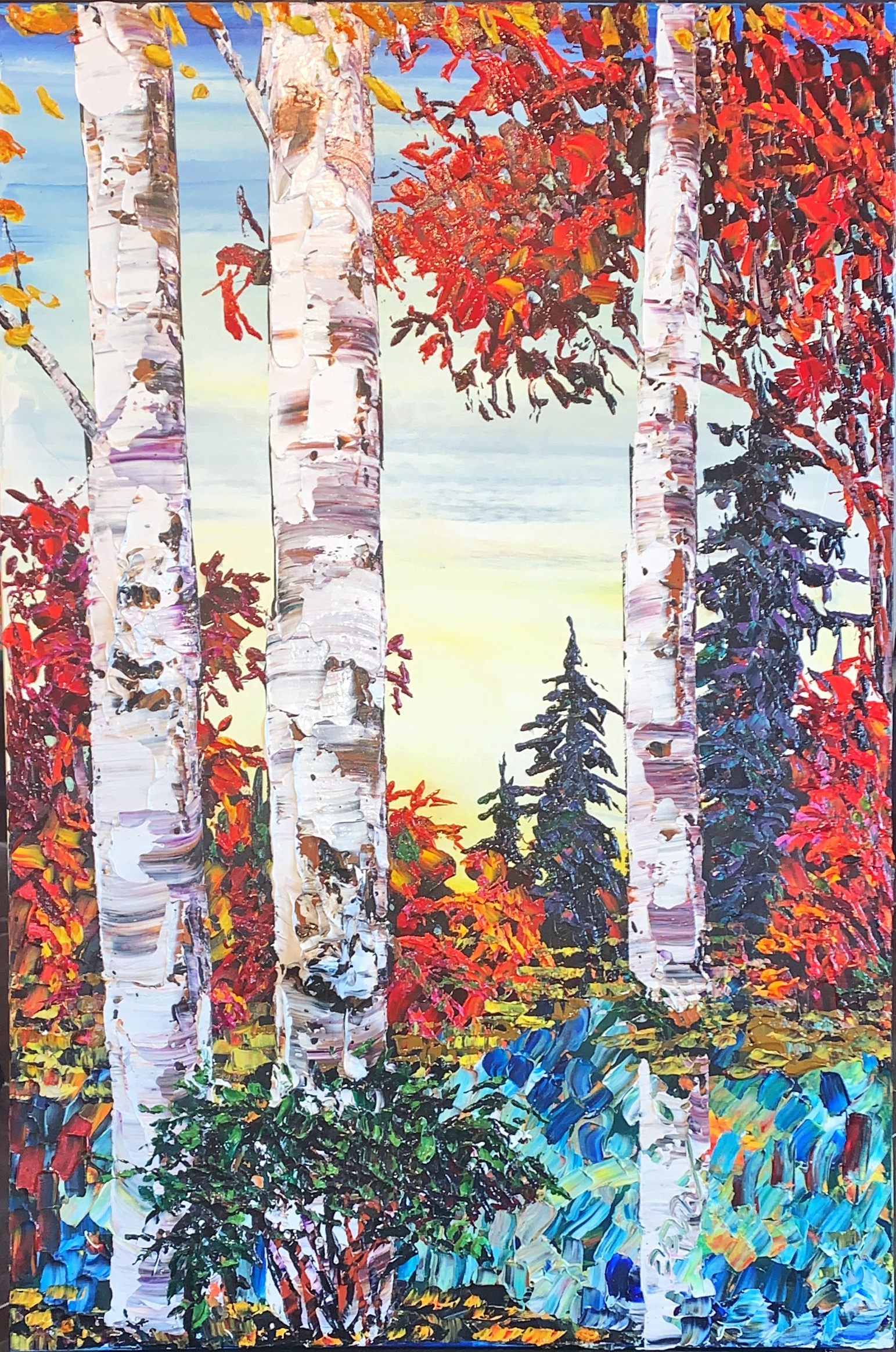 Among the Birches and Pines