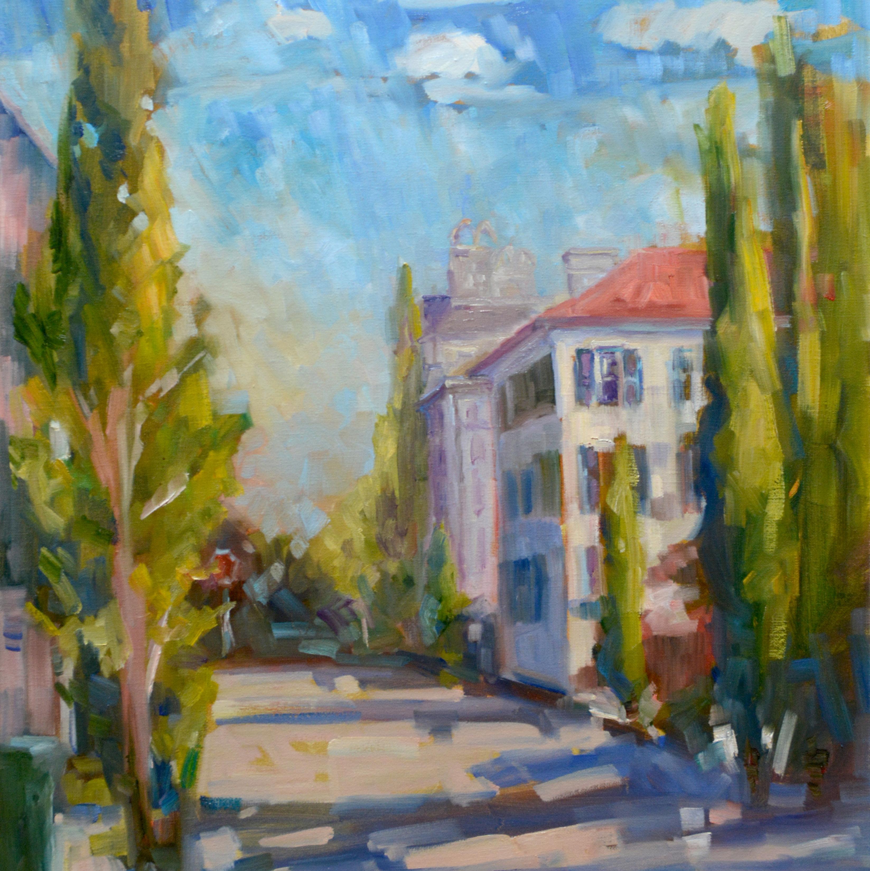 Long View of St Michaels Alley by Karen Hewitt Hagan