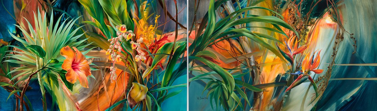 Tropical Parlor Diptych