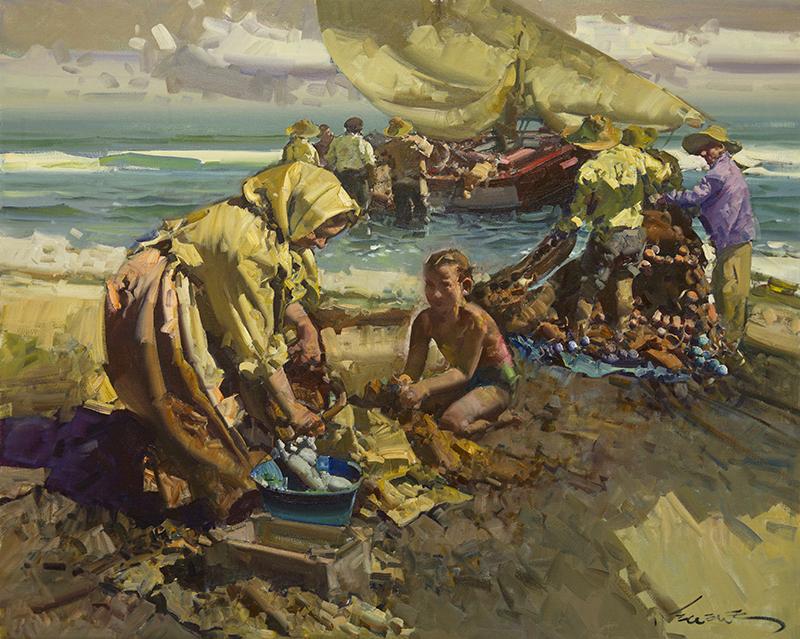 Pescadoras de Valencia Espana