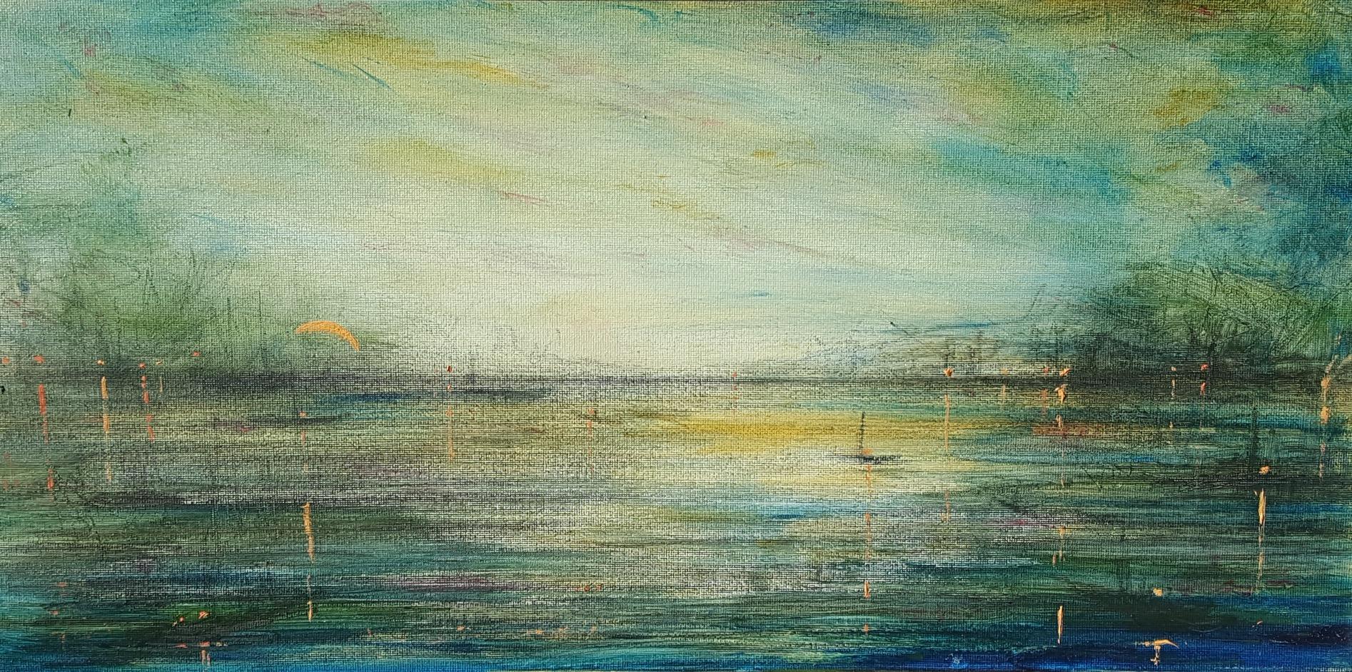 Portsmouth Harbor at Twilight, Last Light