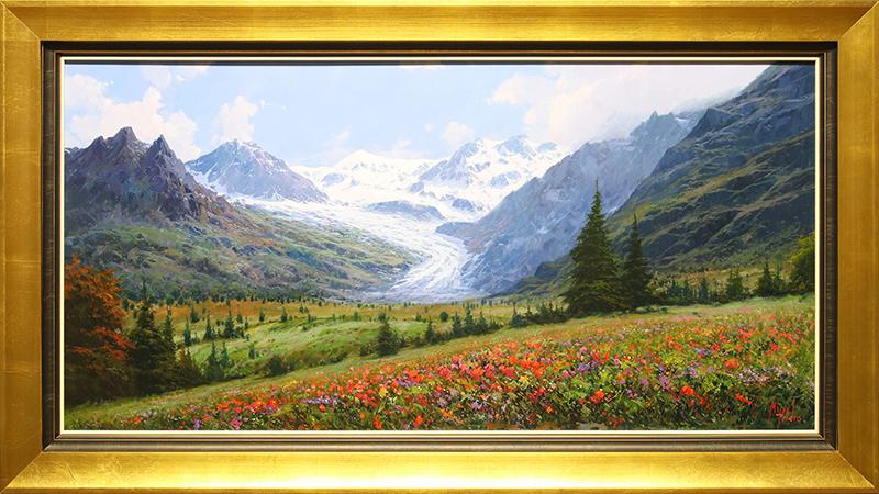 Glacier en los Alpes (Glacier in the Alps)