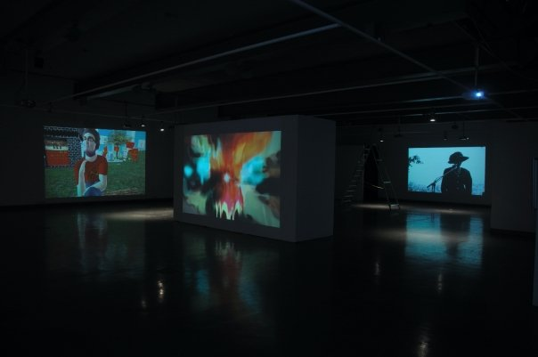 installation view of the exhibition Drift at the National Center for Contemporary Art in Moscow.