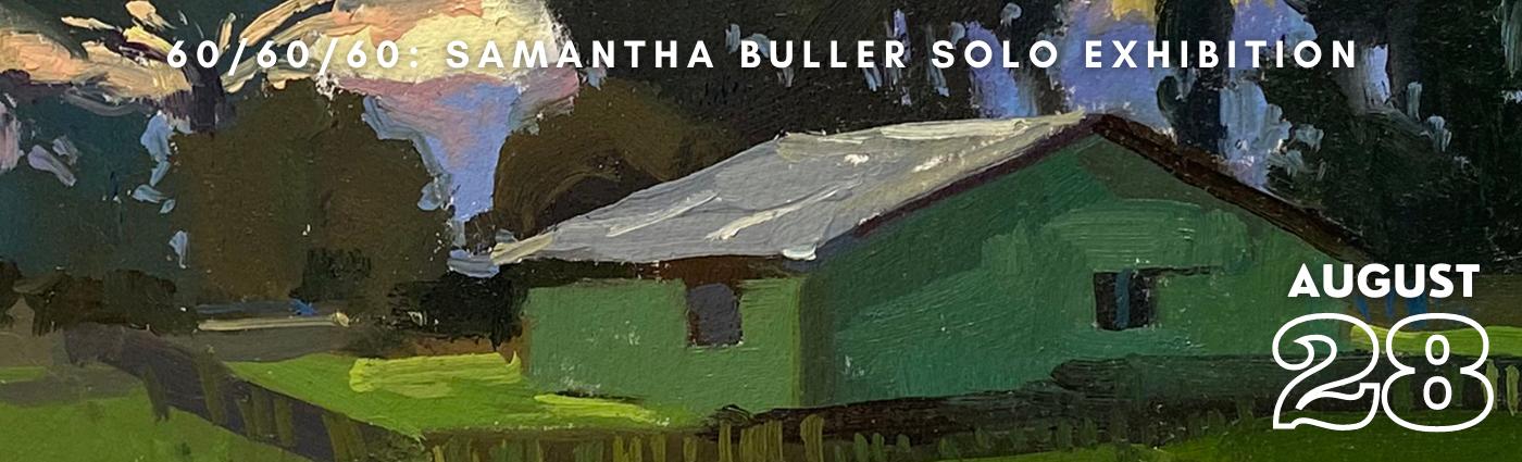 60/60/60 Samantha Buller Solo Exhibition Promo Banner