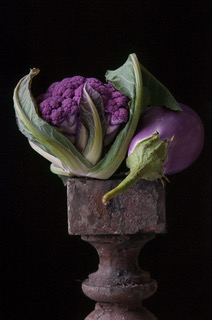 Purple Cauliflower with Eggplant