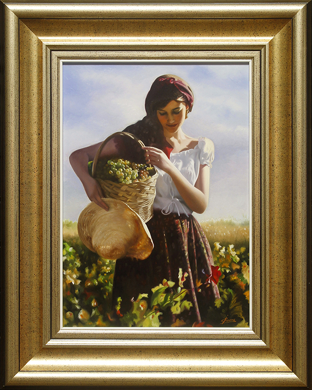 Muchacha con uvas (Woman with Grapes)-YY