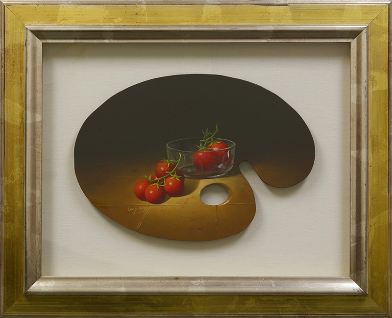 Palette Painting Cherry Tomatoes And Bowl - DP-EB