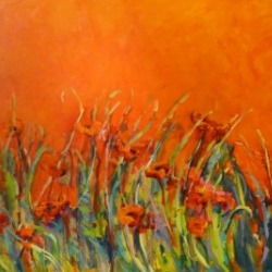 Hope by Karen Hewitt Hagan Orange poppies