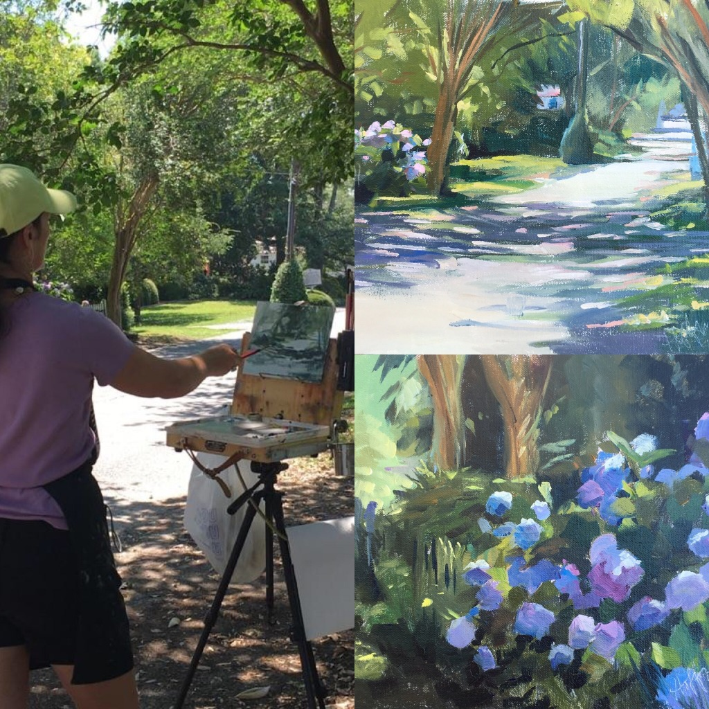 Mary Hoffman Painting en Plein Air