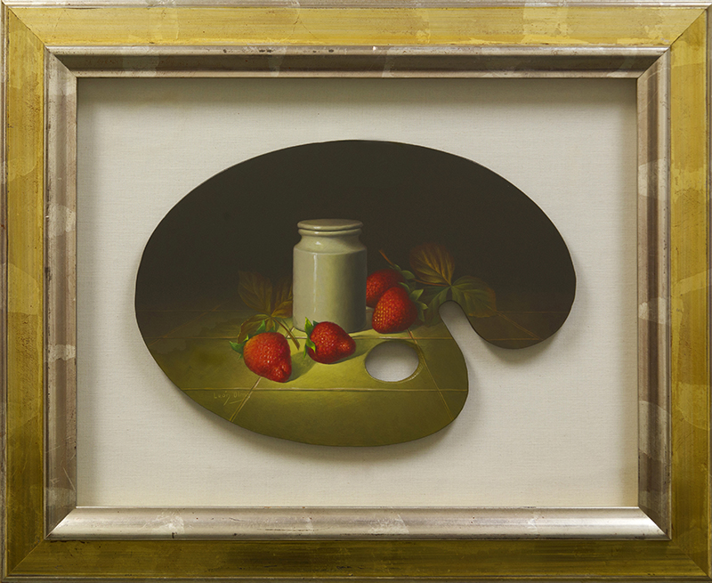 Palette Painting Strawberries And Jar - DP-EB