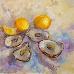 Oyster oil painting by Karen Hewitt Hagan