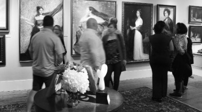 A busy art opening at Hagan Fine Art Gallery in Charleston SC
