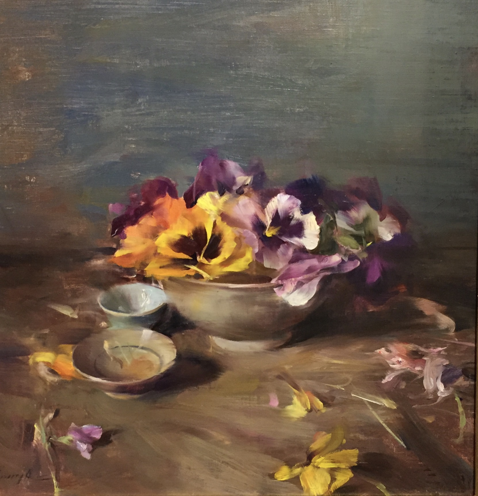 Arrangements with Pansies