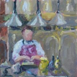 Oyster oil painting by Karen Hewitt Hagan