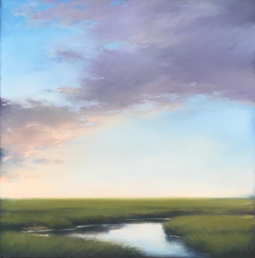 June Sunset Over Marsh
