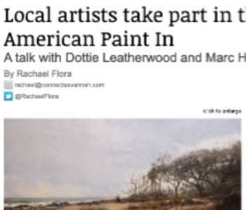 Local artists take part in the Great American Paint In