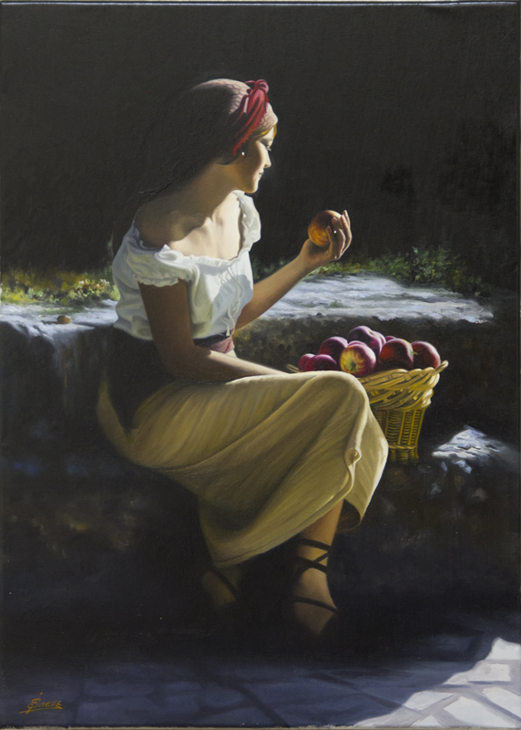Woman with Apples-YY