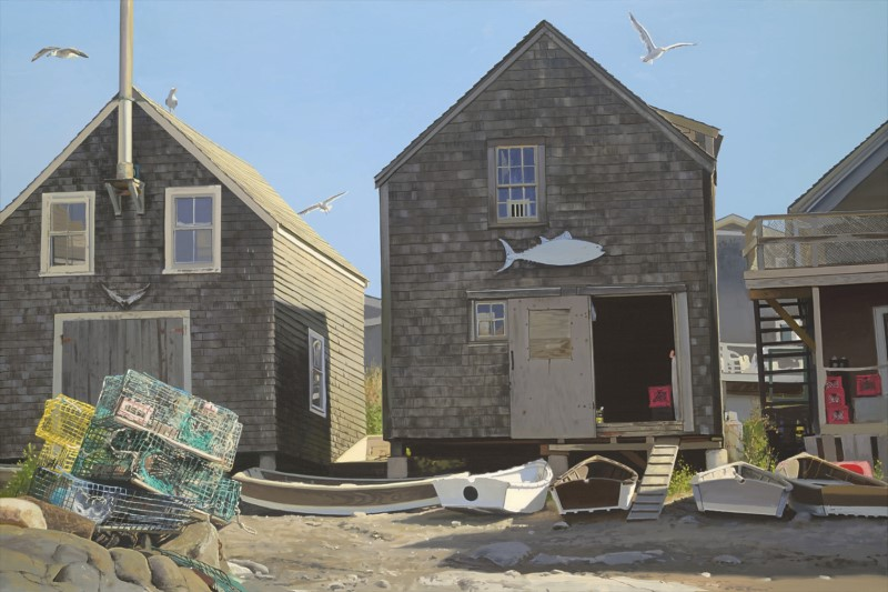 Monhegan Fish Shacks