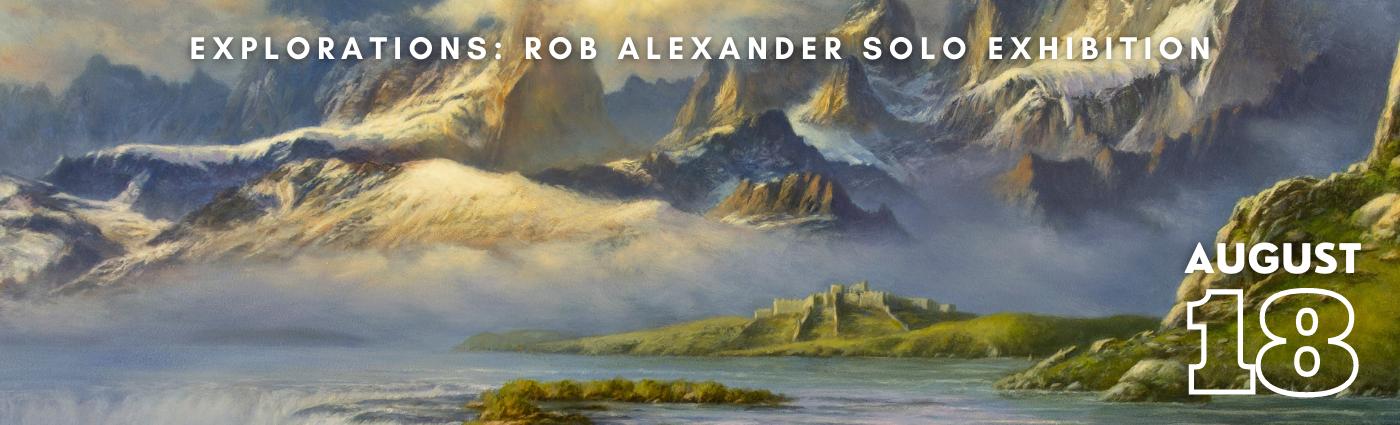 Rob Alexander Solo Show promo banner