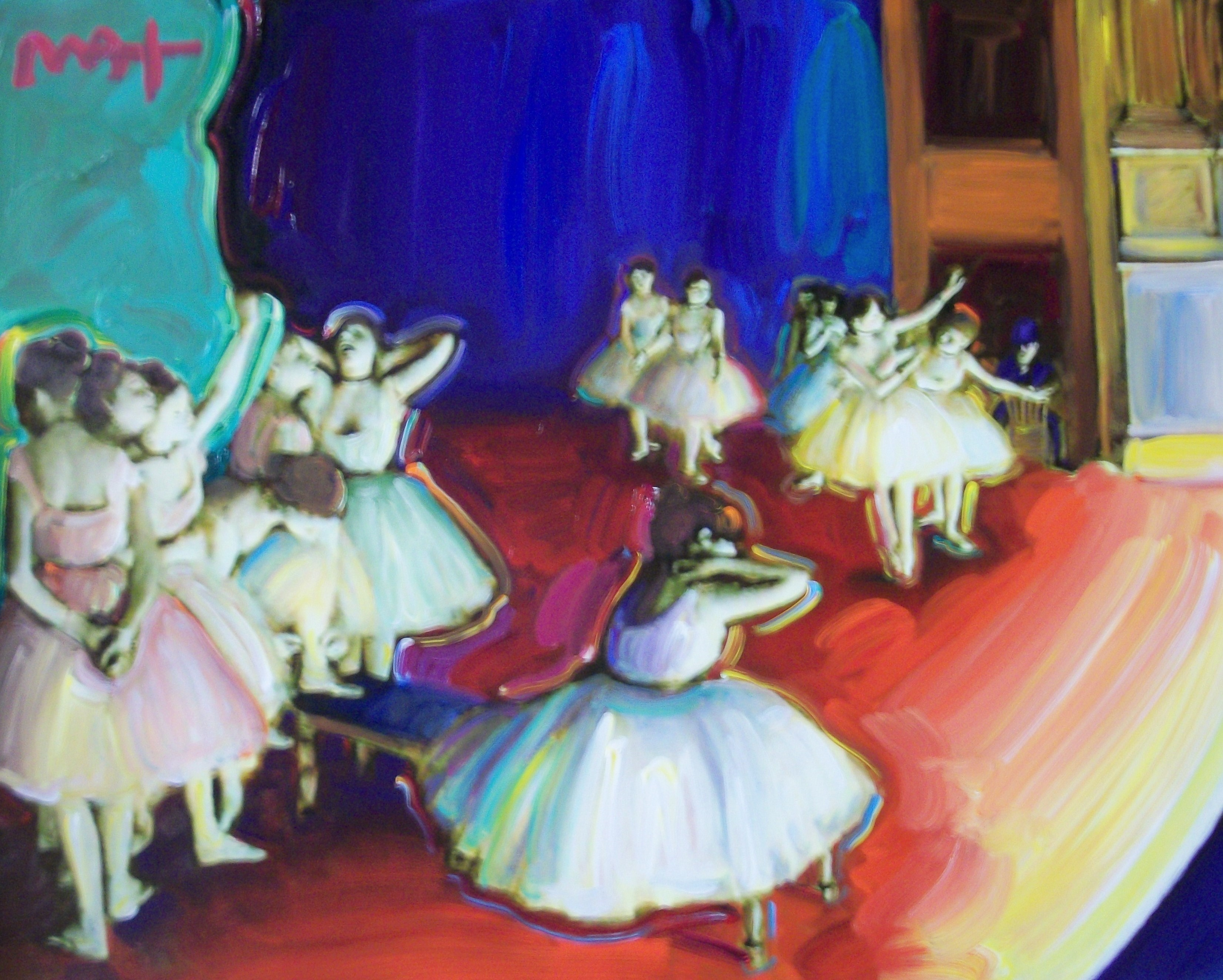 HOMAGE TO DEGAS:DANCE BALLET REHERSAL