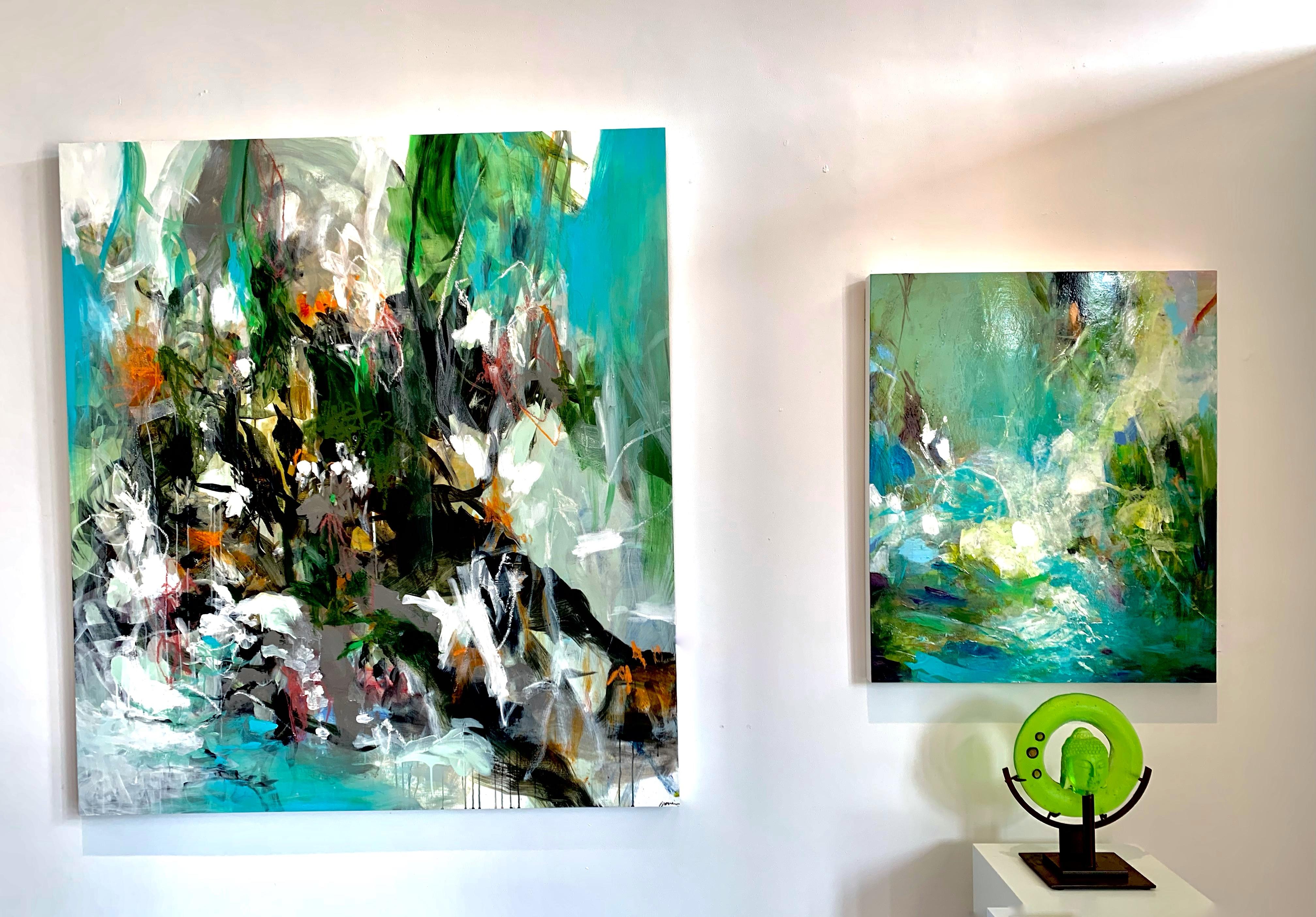Mini Canvas Compilation Series Epoxy Resin Paintings on Mini Canvases Seasons