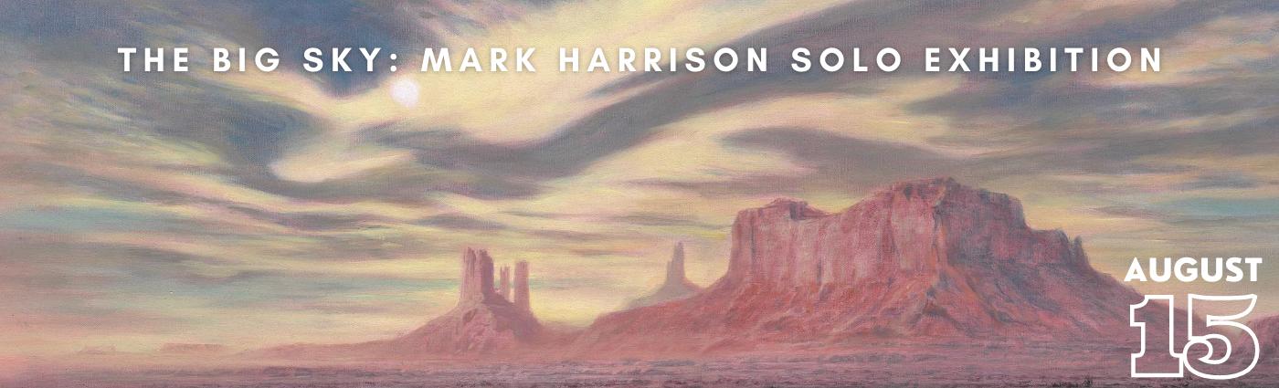 Mark Harrison solo exhibition promo banner