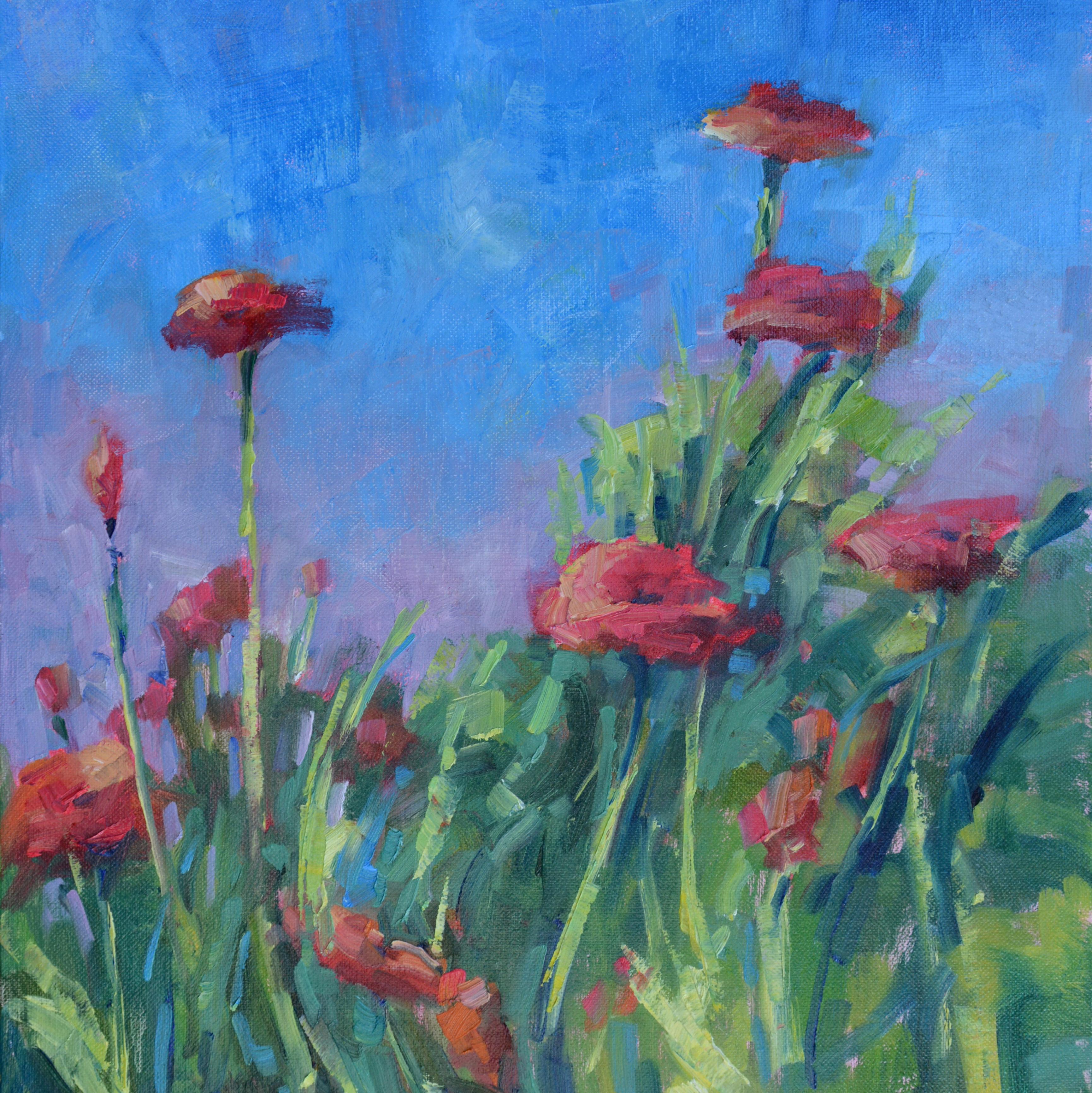Blue Sky Poppies by Karen Hewitt Hagan