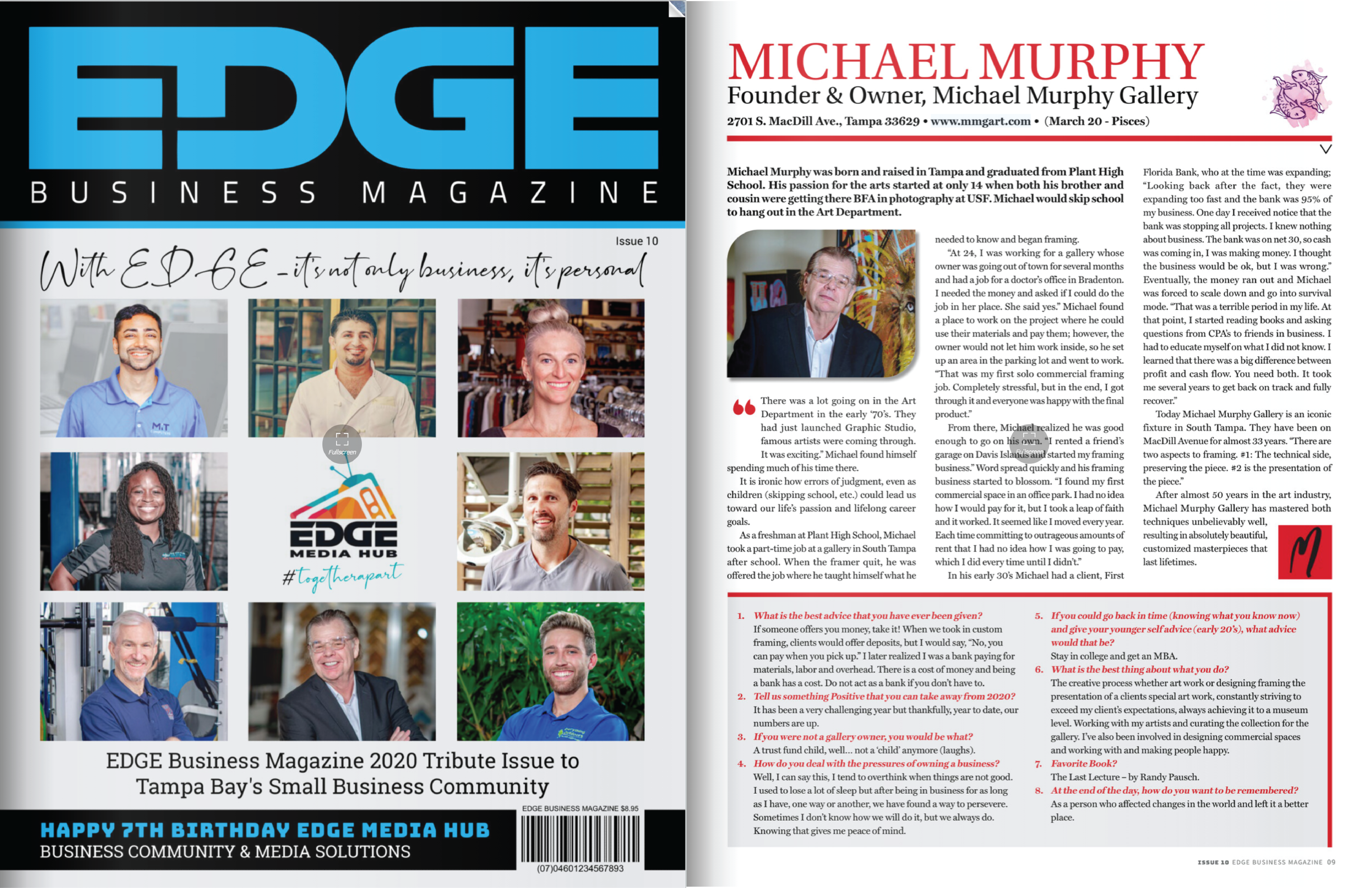 EDGE Business Magazine Michael Murphy Gallery Feature Article