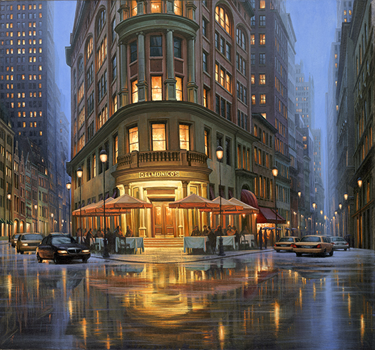 Summer Rain - Delmonicos LAST ONE IN THIS EDITION, CAN REPLACE FRAME, ALSO AVAILABLE IN GOLD SERIES
