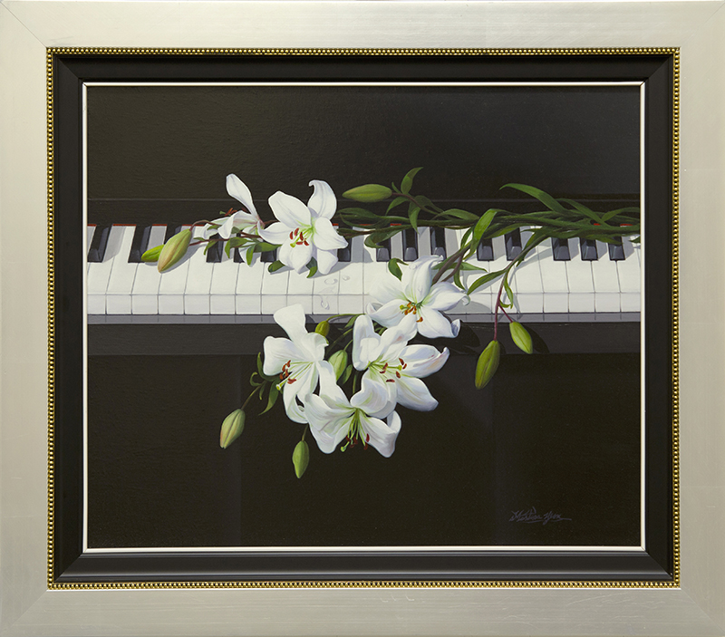 White Lily on Piano-EB - DP