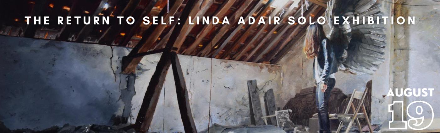 Linda Adair solo show promo banner