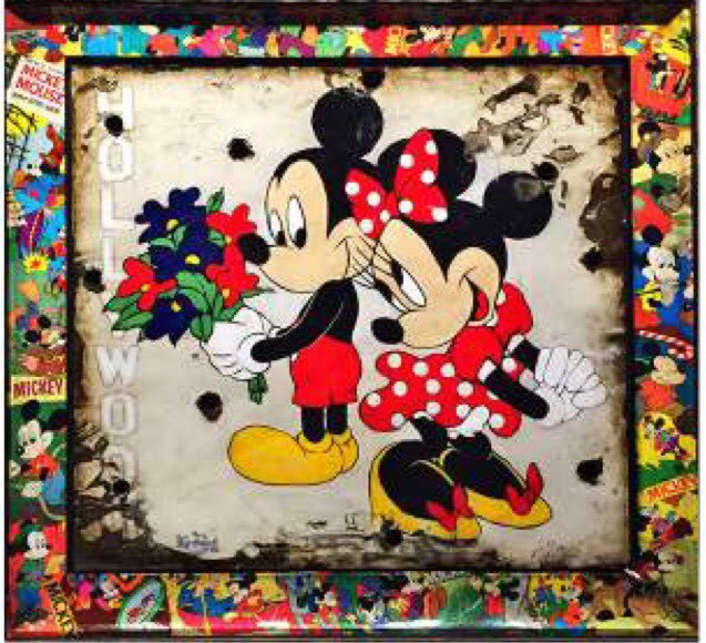 Mickey and Minnie with Walt Disney Signature- Original SOLD