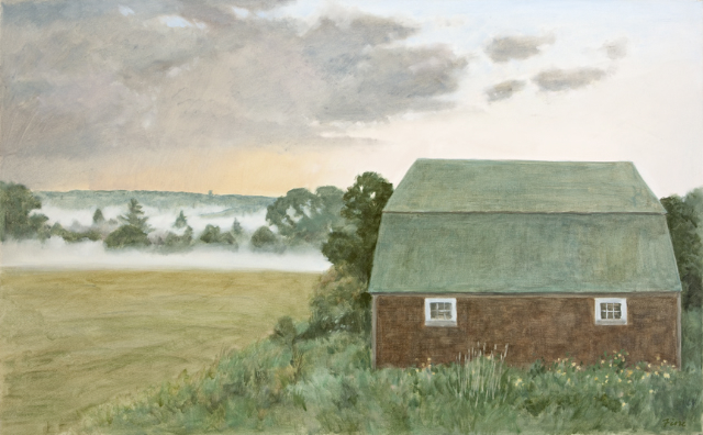Barn and Evening Mist