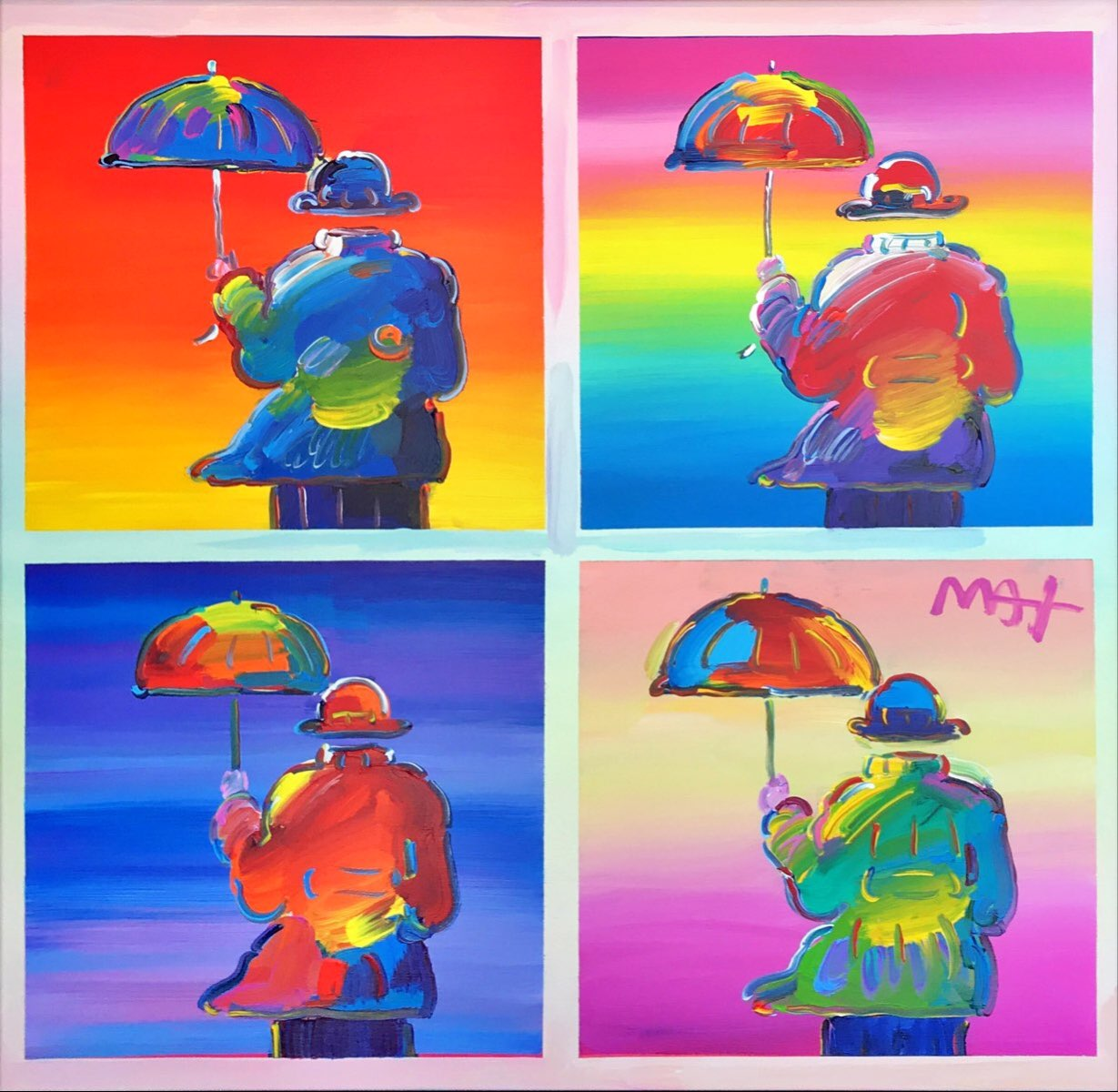 Four Umbrella Men