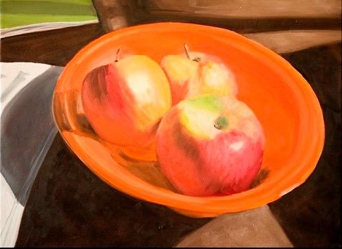 Apples in Orange  Bowl