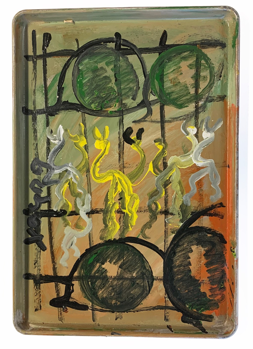 Behind Bars by Purvis Young (1943 - 2010)