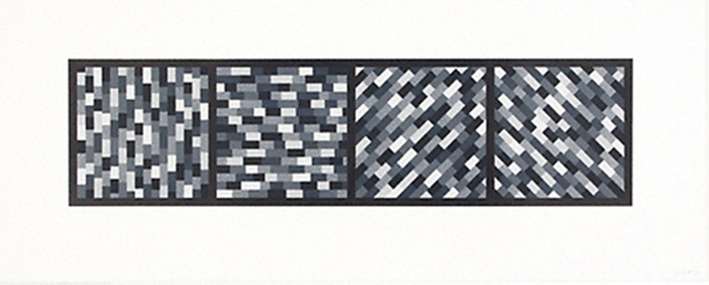 Broken Gray Bands in Four Directions by Sol LeWitt