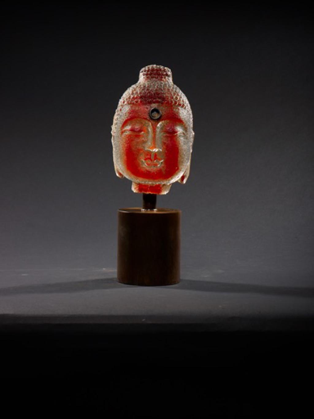 Bookshelf Buddha - Red by Marlene Rose (b. 1967)