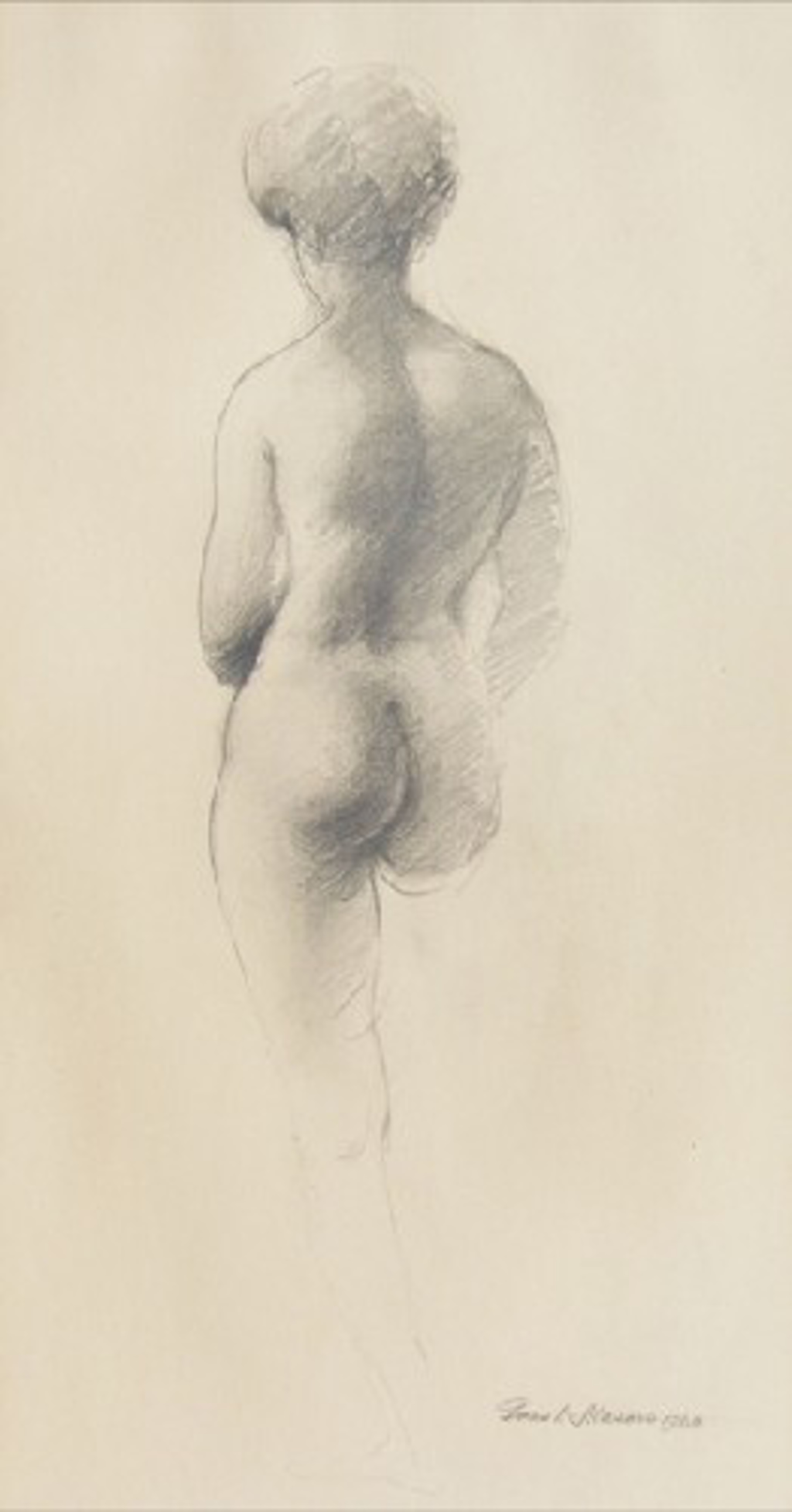 Back View Nude by Frank Mason (1921 - 2009)