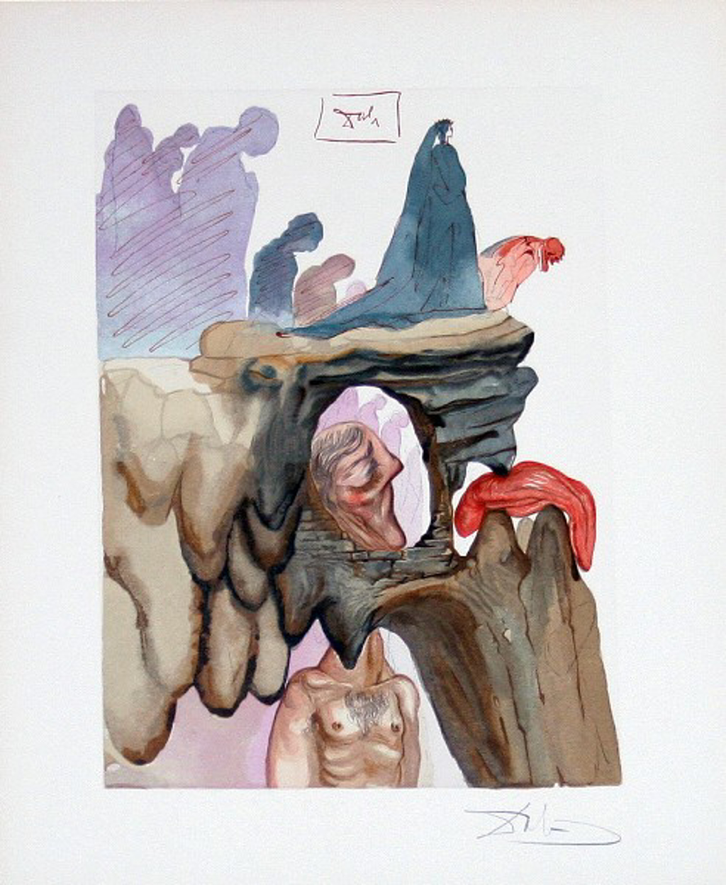 Inferno Canto 22: The Liars from The Divine Comedy by Salvador Dali (1904 - 1989)
