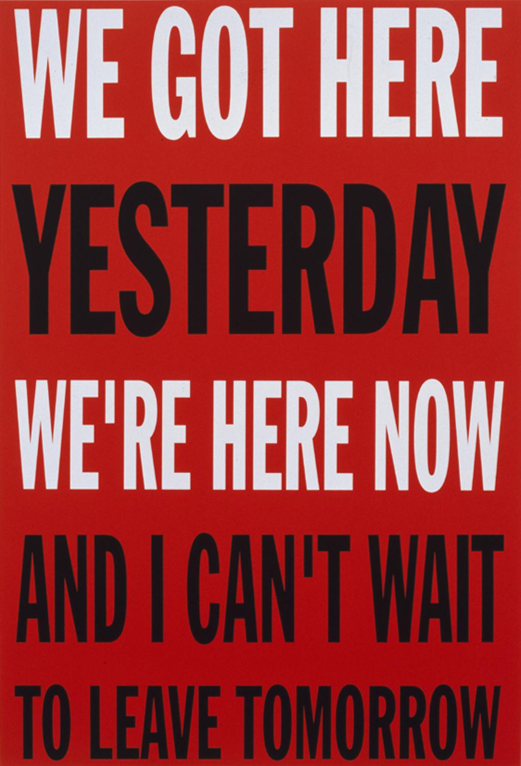 We Got Here... by John Giorno